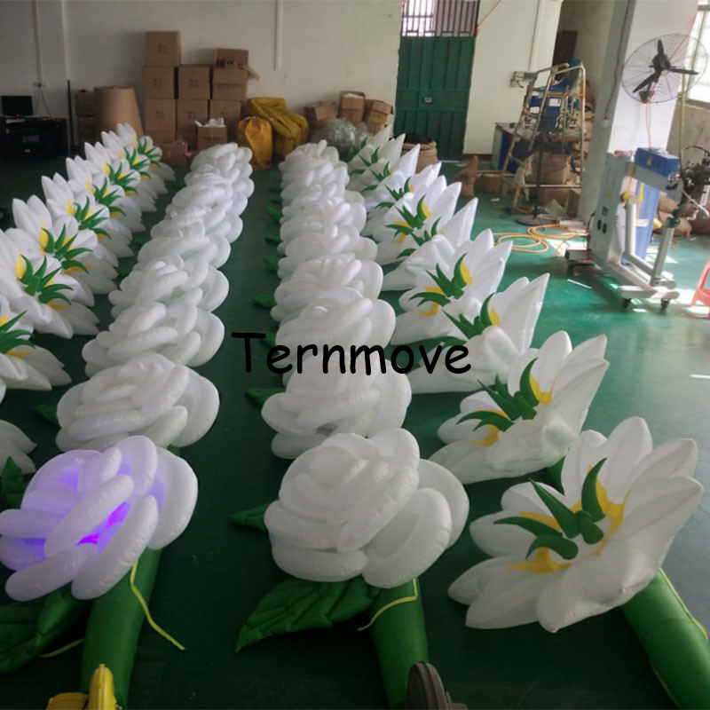 inflatable lily pipe advertising flower for christmas / wedding / party decoration inflatable flower line with LED (2pcs/lot)inflatable lily pipe advertising flower for christmas / wedding / party decoration inflatable flower line with LED (2pcs/lot)