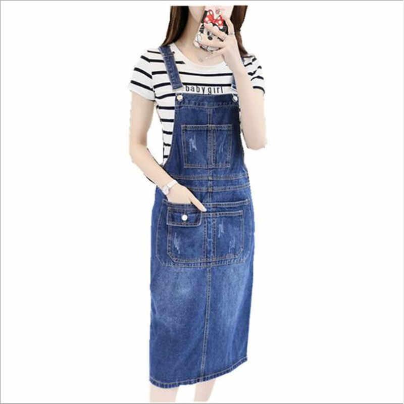 2019 осень лето ремень джинсовые женские Платья повседневные джинсы сарафаны корейская мода с карманом джинсовое синее платье QC808