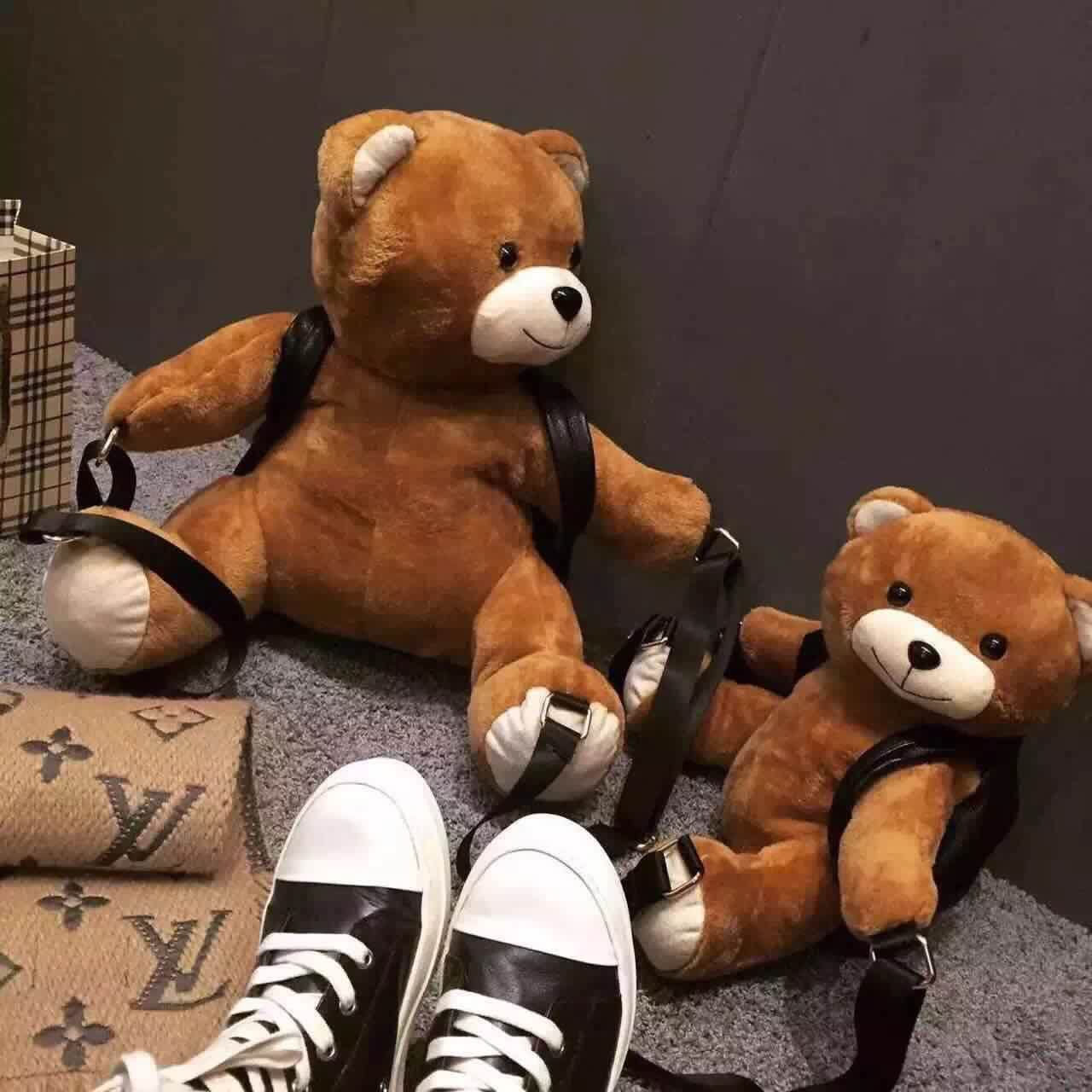 Winter Women/girls Fashion Leather Backpack Plush Teddy Bear Backpack/school Bag Fmous Brand Leisure Small Backpack Bag #2