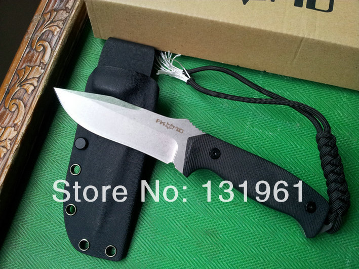 Italy FOX Tactical Fixed Knives,D2 Blade G10 Handle Stone Wash Classic Full Tang Hunting Knife,Camping Knife. стоимость
