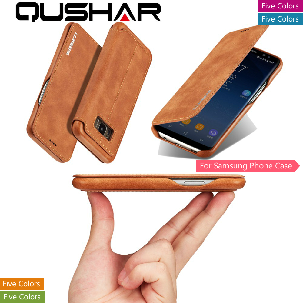 Fundas Case For Samsung A70 A50 A40 S10 S10e Note 8 S9 S8 Plus Luxury Phone Coque Leather Bag  Stand Book Wallet Card Back Cover