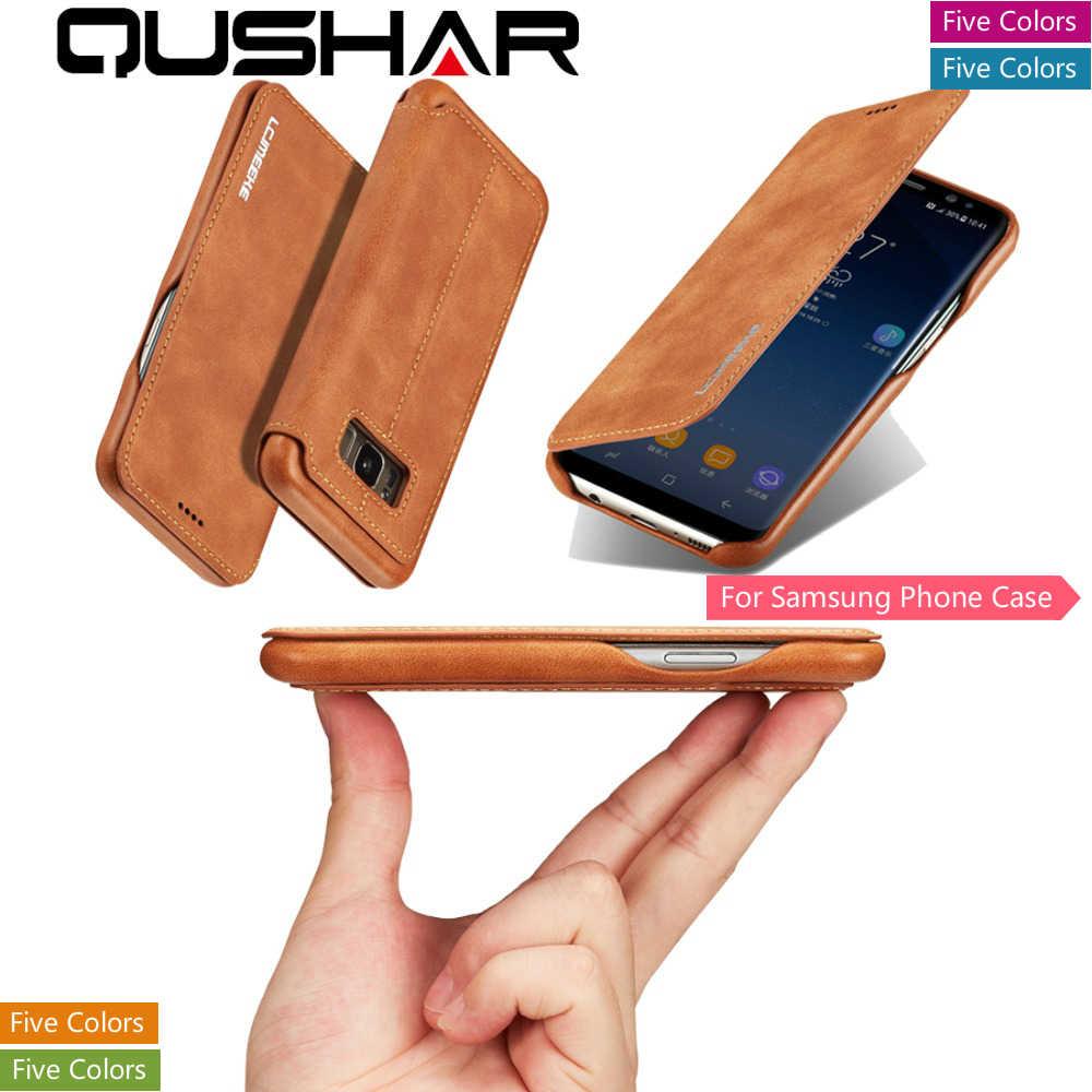 Fundas durumda Samsung A70 A50 A40 S10 S10e not 8 not 20 lüks telefon Coque deri çanta standı kitap cüzdan kart arka kapak