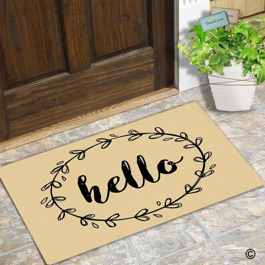 Смешно дверь Коврики вход на полу Коврики границы Hello Творческий Разработан двери Коврики Крытый открытый декоративные двери Коврики нетка...