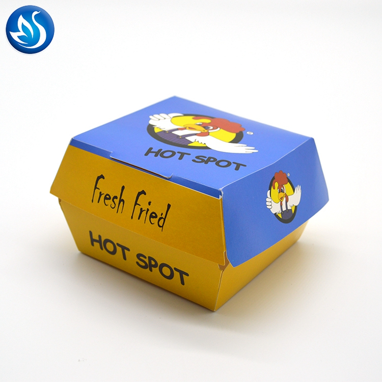 Add To CompareShare Wholesale Handmade Printed With Your Logo Square Brown Kraft Paper Burger Box