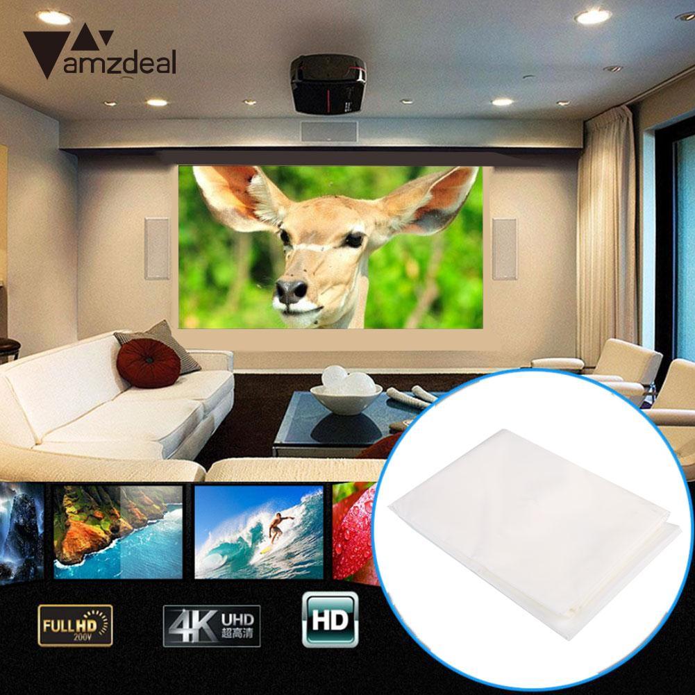 Портативный складной моющиеся 74 дюймов 16:9 экран проектора занавес развлечений домашнего кинотеатра
