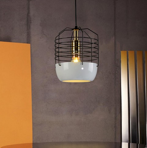 Loft Style Creative Cage Droplight LED Pendant Light Fixtures For Dining Room Hanging Lamp Vintage Industrial Lighting vintage birdcage crystal chandelier lighting black rustic bird cage pendant hanging light chandeliers lamp for dining room bar