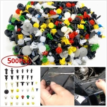 Multicolor 500PCS Car Fender Push Retainer Pin Rivet Trim Clip Door Panel Moulding Fastener Car Accessories стоимость