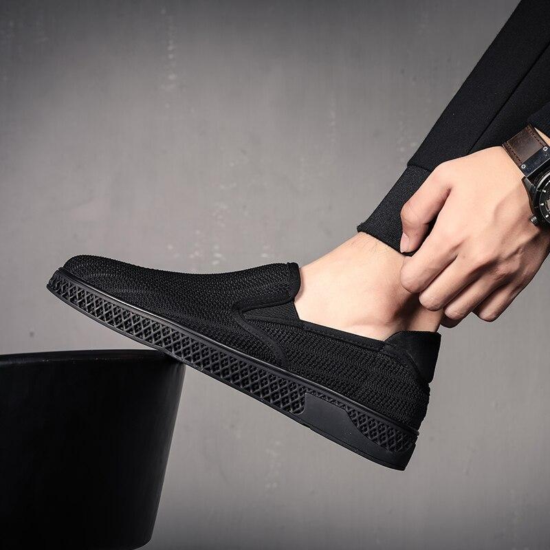 Casual Hombre Diseñador Hombres De Black Moda black Sapato Zapatos Lujo Masculino Los Slip Transpirables Mesh Mycoron Llegada Nueva 2018 on Botas 4wqZtOFf