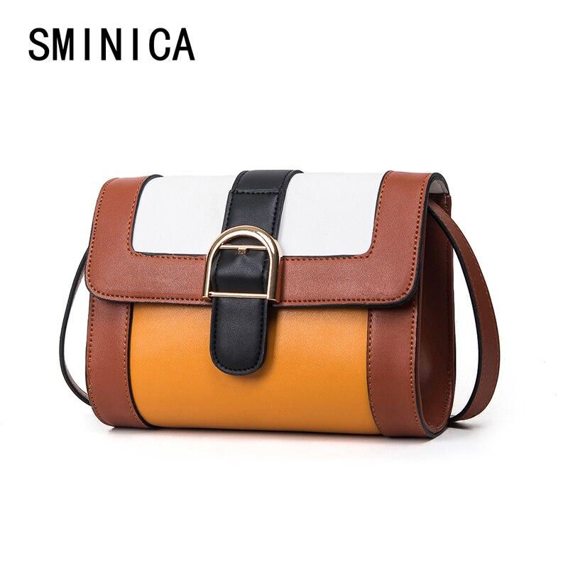 4616025e3bf9 Для отдыха женская сумка сумки Дамы Crossbody сумка высокого качества плечо  BOLSOS кожа хит цвет сплайсинга сумки 2s12113