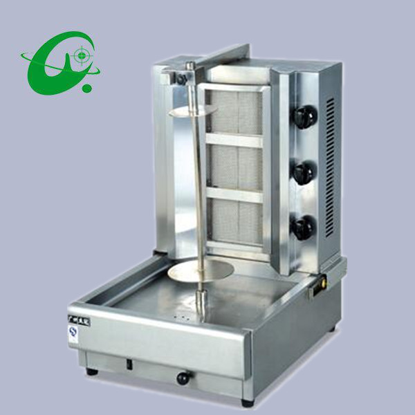 Gas shawarma kebab machine doner kebab grill machine with 4 burner  Middle East Grill gh987 gas range with 4 burner with cabinet