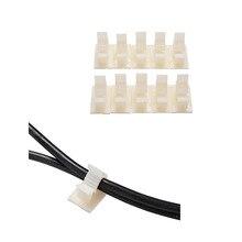 10 шт., высококачественный белый клейкий нейлоновый провод, регулируемые зажимы для кабелей, подходит для 10 мм
