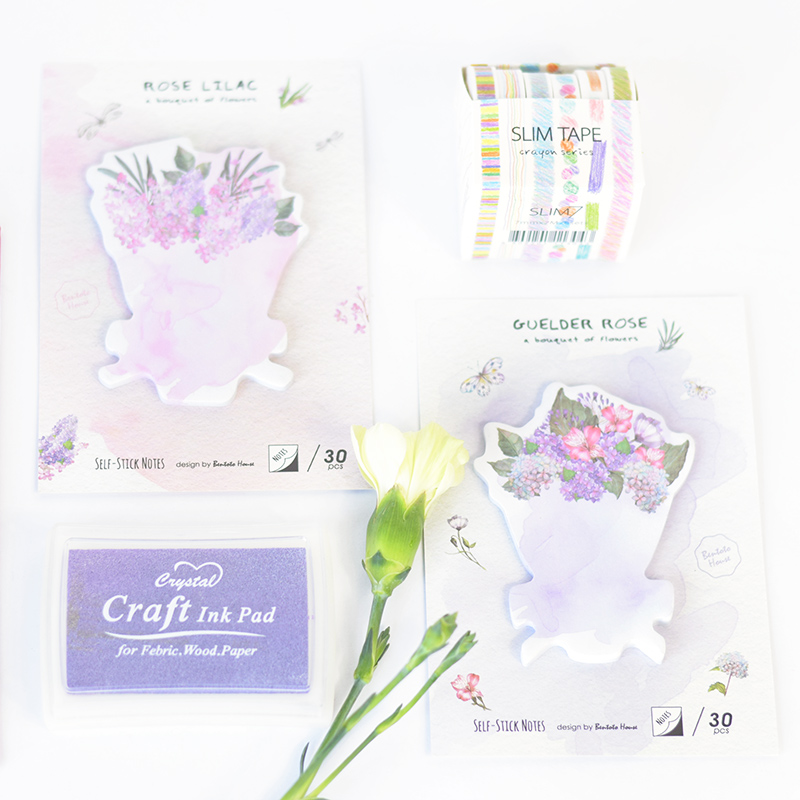 48 pcs/Lot Rose flower sticky notes 30 pcs post sticker Floral paste for planner diary Wedding Office School supplies EM666