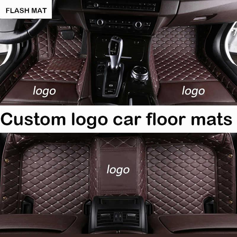 Logotipo personalizado coche tapetes para bmw e90 g30 e46 f10 f11 x3 e83 f30 f45 x1 x3 f25 x5 f15 e30 e34 e60 e65 e70 todos los modelos Esteras del coche