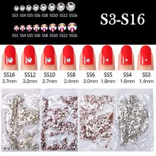 Biutee 1000 pièces/sac paillettes Strass cristal AB SS3-SS16 toutes les tailles un sac ongles Strass Strass gemme Nail Art décoration(China)