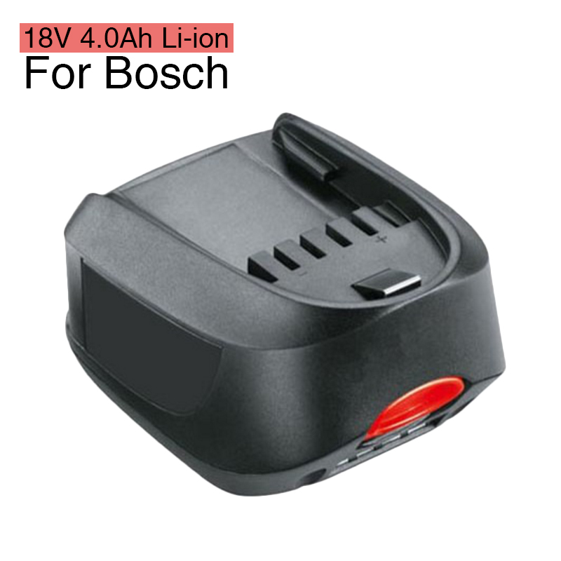 18V 4.0Ah Li-ion Power Tool Battery Replacement for Bosch PST 18 LI 2607335040 2607336039 2607336207 2607336208 Power 4A II 18v 3500mah li ion battery for 18v einhell power tool battery with led digital display