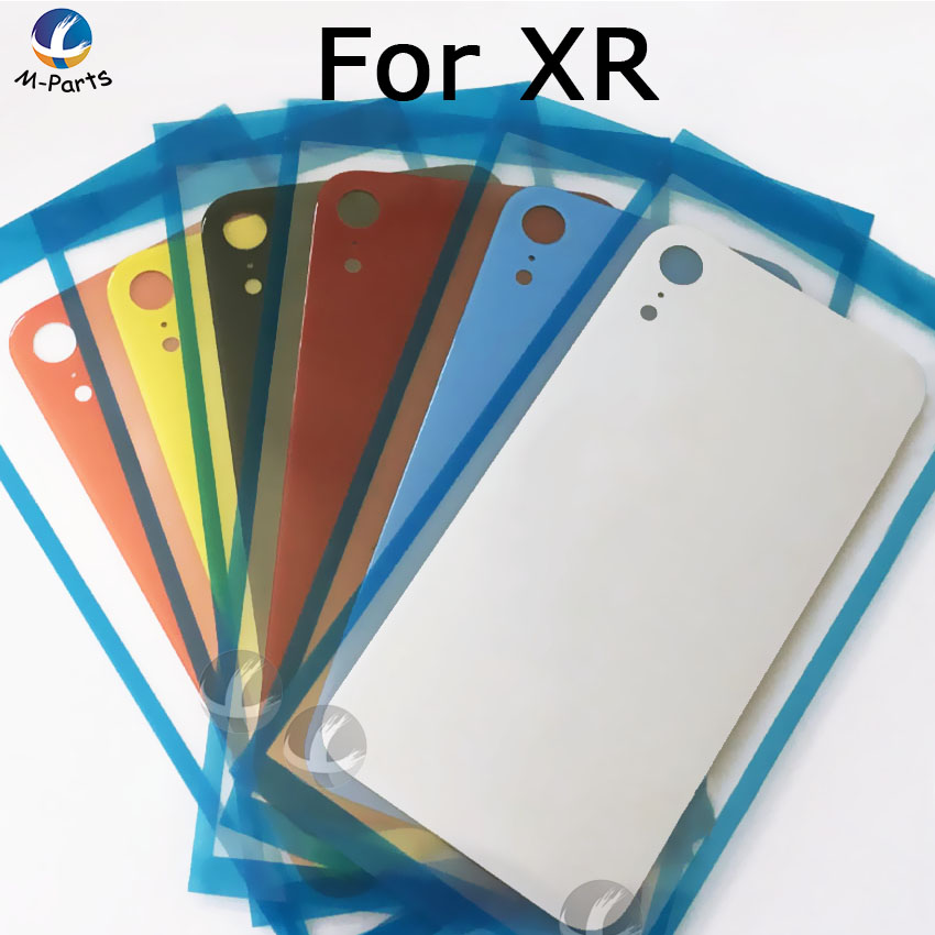 Original For iphone XR Back Glass Housing + Adhesive Rear Crystal Panel Plate Battery Cover Lid Shell + Camera Lens&Frame + LOGOOriginal For iphone XR Back Glass Housing + Adhesive Rear Crystal Panel Plate Battery Cover Lid Shell + Camera Lens&Frame + LOGO