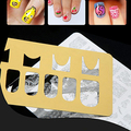 1 Sheet Golden Tone Nail Art Hollow French Nails Stamping Stencil DIY Manicure Tool