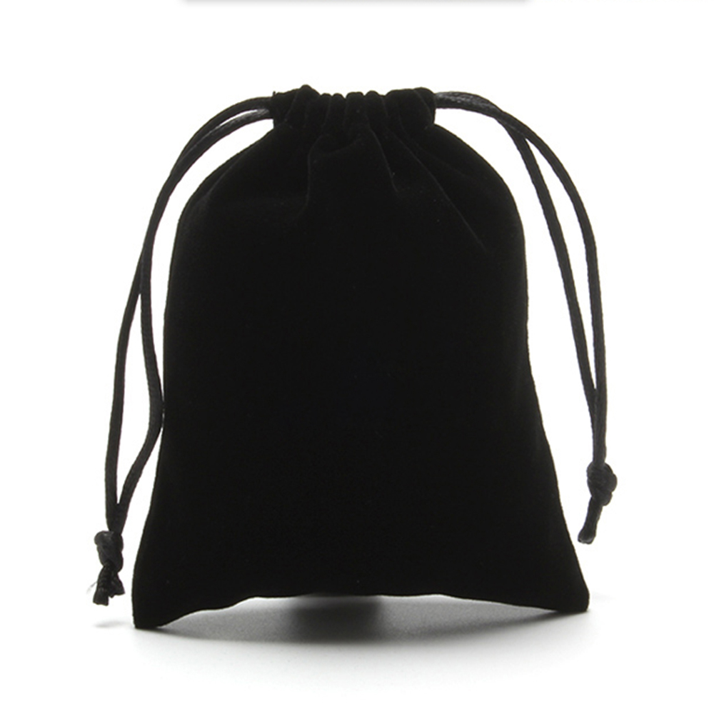 25PCS Black Velvet Drawstring Jewelry Wrapping Pouches Gift Bags For Packaging Birthday Party Supply