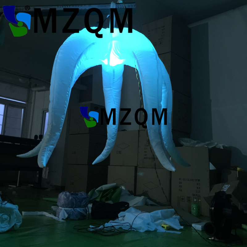 MZQM  Popular LED Light Inflatable Star model inflatable led balloon with 5 angles N blower light toys ao058m 2m hot selling inflatable advertising helium balloon ball pvc helium balioon inflatable sphere sky balloon for sale