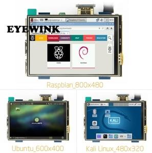 Image 1 - 3.5 cal LCD HDMI dotykowy ekran USB prawdziwe HD 1920x1080 wyświetlacz LCD Py dla Raspberri 3 Model B/pomarańczowy Pi (zagraj w gry wideo) MPI3508