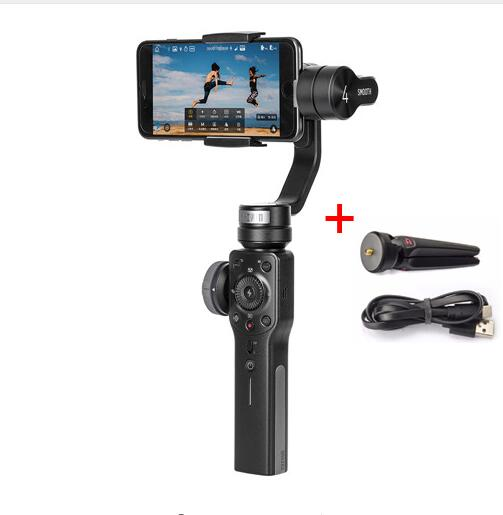 Zhiyun Smooth 4 Smooth Q 3-Axis Gimbal Stabilizer w Boya BY-MM1 Microphone for iPhone Samsung S9 S8 Xiaomi VS DJI OSMO Mobile 2 ulanzi mini tripod l bracket stand with 2 hot shoe for zhiyun smooth q dji osmo mobile2 feiyu gimbal by mm1 microphone light