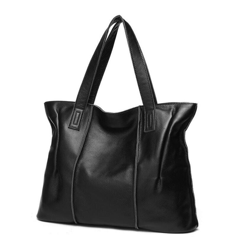 Bolsas Femininas Large Shoulder Bags Genuine Leather Female Bag Ladies Tote Women Crossbody Bags Handbag Big Women Messenger Bag