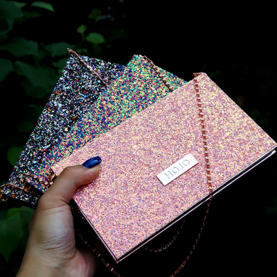 2019 Fashion New Chain Bag Eyeshadow Palette 15colors Matte Eyeshadow Palette Glitter Eye Shadow Makeup Nude Makeup Set Cosmetic