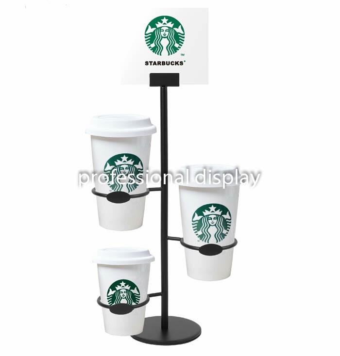 Starbucks Coffee Cup Display Shelf McDonald's Drinks Poster Display New Coffee Cup Display Stands