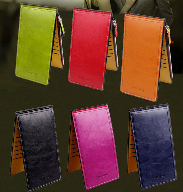Candy Color PU Leather Wallet 6Colors