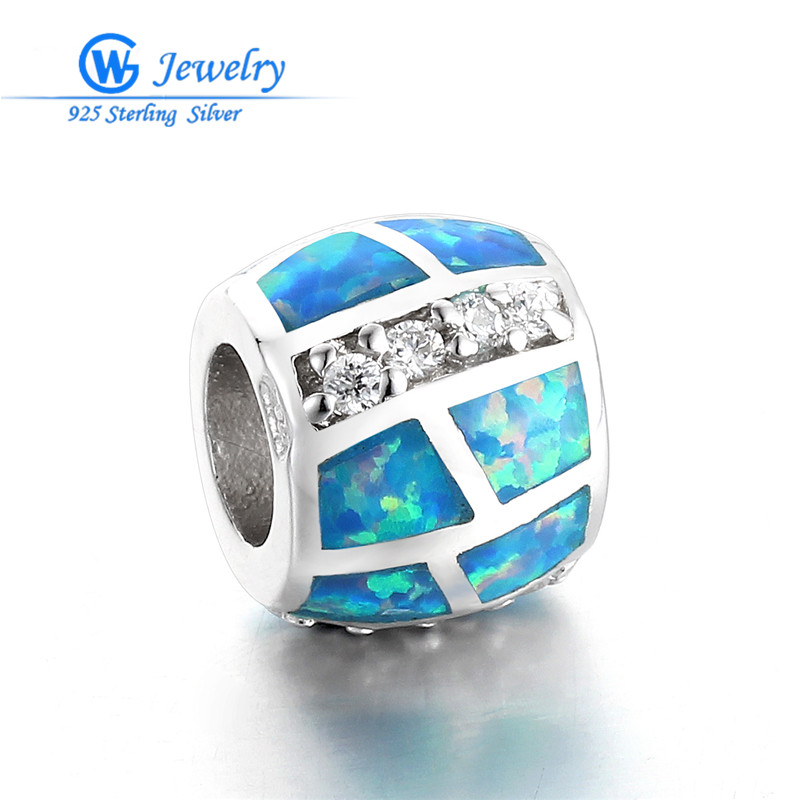 Europe Popular Accessories Hollow Bead 925 Sterling Silver Charms Beads with CZ Fits For Bracelet 3 Color GW Jewelry H20