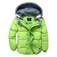 Inverno giù bambino cappotto maschile breve disegno di ispessimento abbigliamento per bambini giù gilet giacca parka