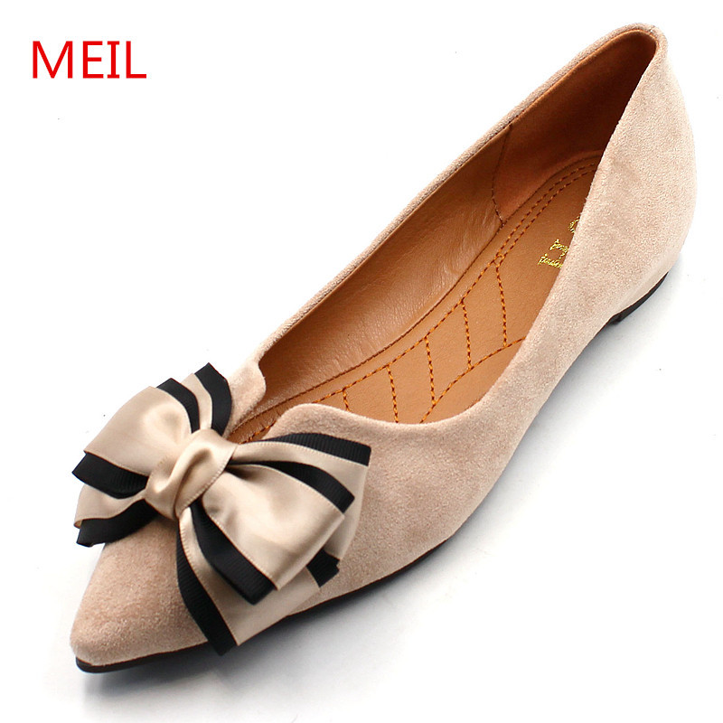Casual Shoes women office ladies shoes lady cute bow tie pointed toe flats female cute spring & summer slip on shoes for women baitclothing women cute spring