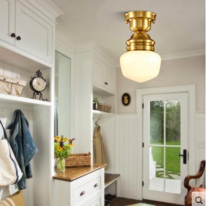 American Copper Plafon Retro Vintage stropní světlo pro domácí - Vnitřní osvětlení - Fotografie 2