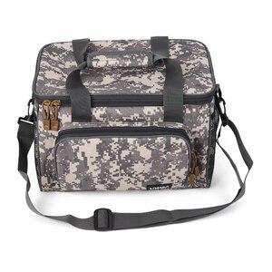 Image 4 - Lixada Men Fishing Bag Canvas Multifunctional Outdoor Waist Shoulder Bag Fishing Reel Lures Storage Bag Fishing Gear 37*25*25cm