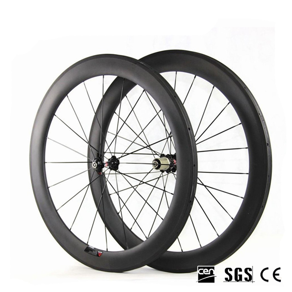 Road Bike 23mm Width 60mm Depth Full Carbon Wheels UD Matte Clincher Tubular Bicycle Wheelset NOVATEC271 372 Bicycle Accessories стоимость