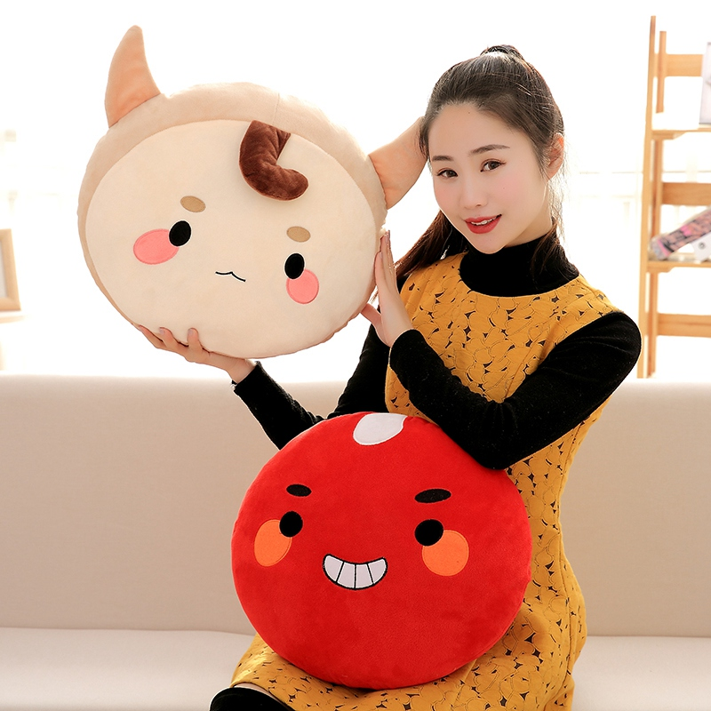 Candice guo! cute plush toy alone and brilliant ghosts goblin buckwheat red beans cushion sofa pillow creative birthday gift 1pc