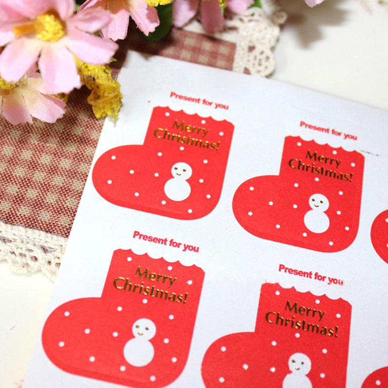 5 page lot (45 pcs) Christmas stickers Red ugg boots adhesive sticker Candy  box gift card decoration New Year party supplies-in Stickers from Home    Garden ... 71296d95d1b9