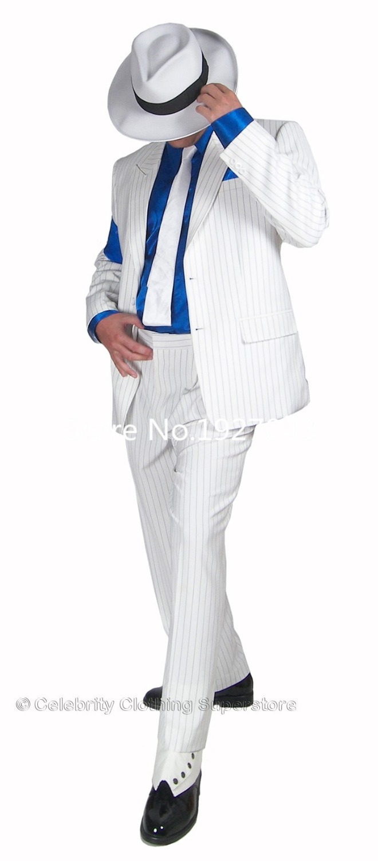 Gratis frakt 2015 Custom Made Michael Jackson Smidig Criminal Suit - Maskeradkläder och utklädnad