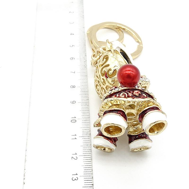 Key Ring Pul kisəsi Rhinestone Kristal CZ Keyring Anahtarlıq - Moda zərgərlik - Fotoqrafiya 3