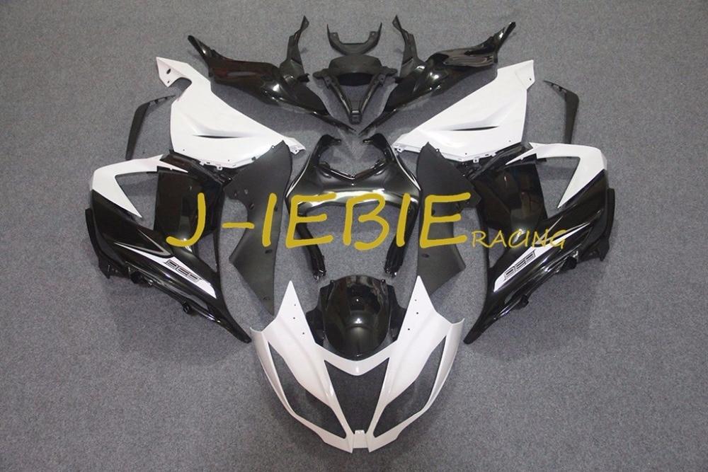 Black white Injection Fairing Body Work Frame Kit for Kawasaki NINJA ZX6R ZX6 ZX 6 R 2013 2014