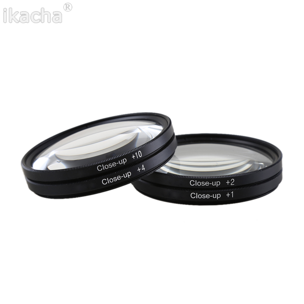 Macro Close Up Lens Filter +1+2+4+10 Filter Kit 49mm 52mm 55mm 58mm 62mm 67mm 72mm 77mm 82mm for Canon Nikon Sony DSLR Camera