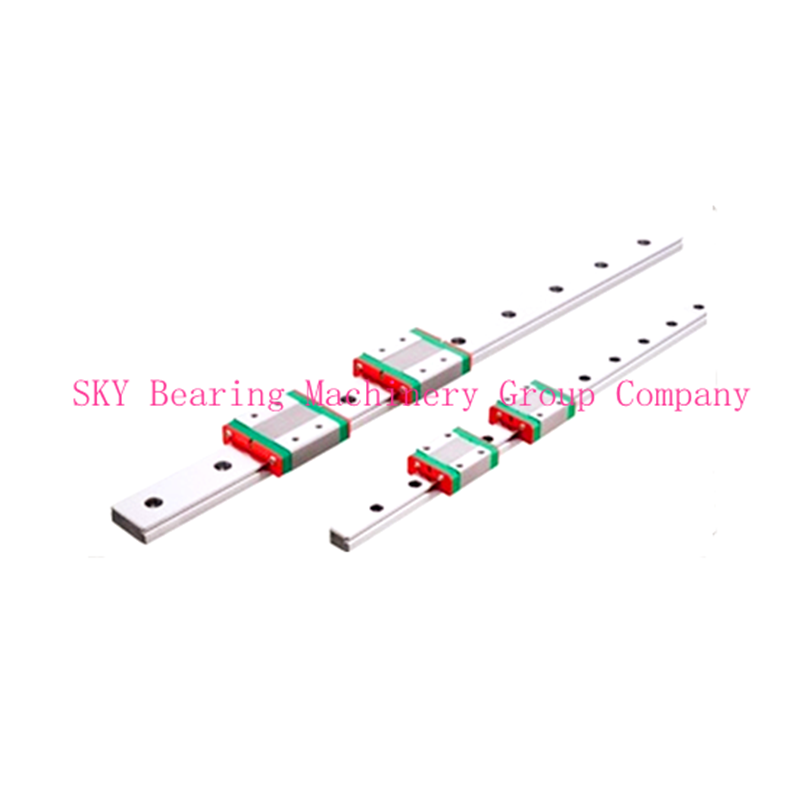 NEW 2pcs 15mm miniature linear guide MGN15 L= 800mm rail + 4pcs MGN15H CNC block for 3D printer parts XYZ cnc parts