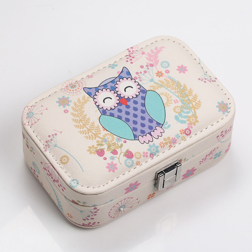 jewelry box casket for decorations portable small hand box with lock earrings ring leather Jewelry box 5.9*3.9*1.9inch