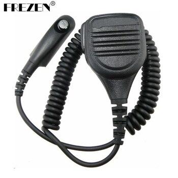 цена на Shoulder Microphone For Motorola Walkie Talkie Radios GP328 GP338 HT1250 PTX760 Waterproof Dustproof Remote Handheld Mic