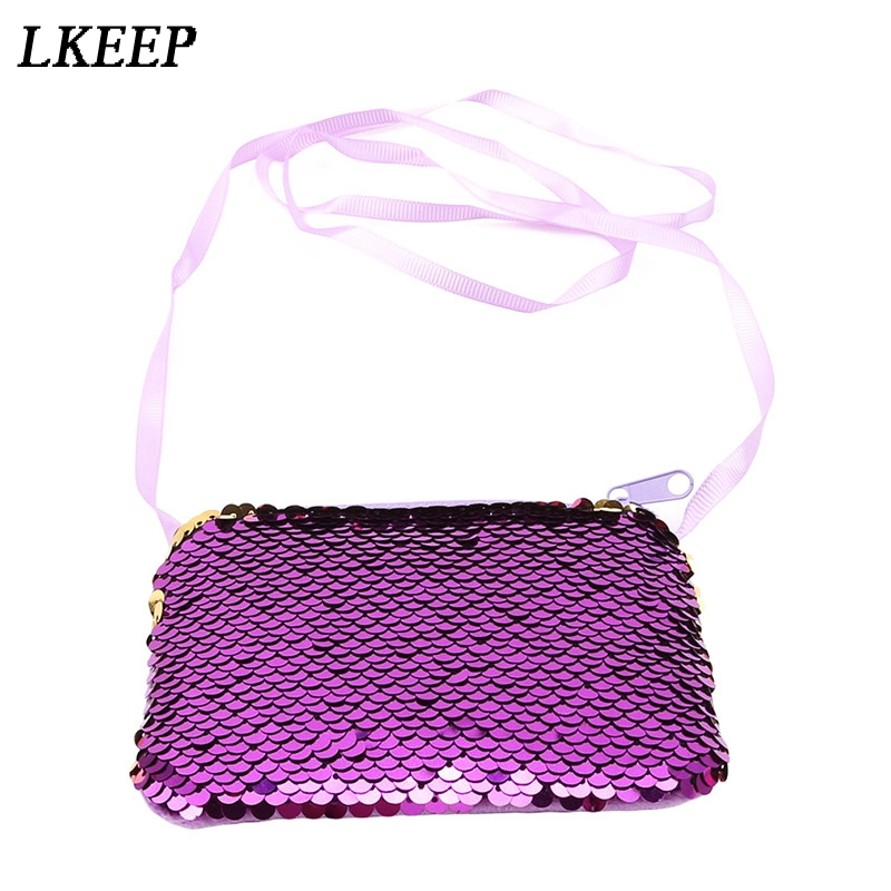 Women Coin Bag Wallet Bling Sequin Coin Purse Change Clutch Earphone Cable Storage Holder Small Card Keys Holder Bag