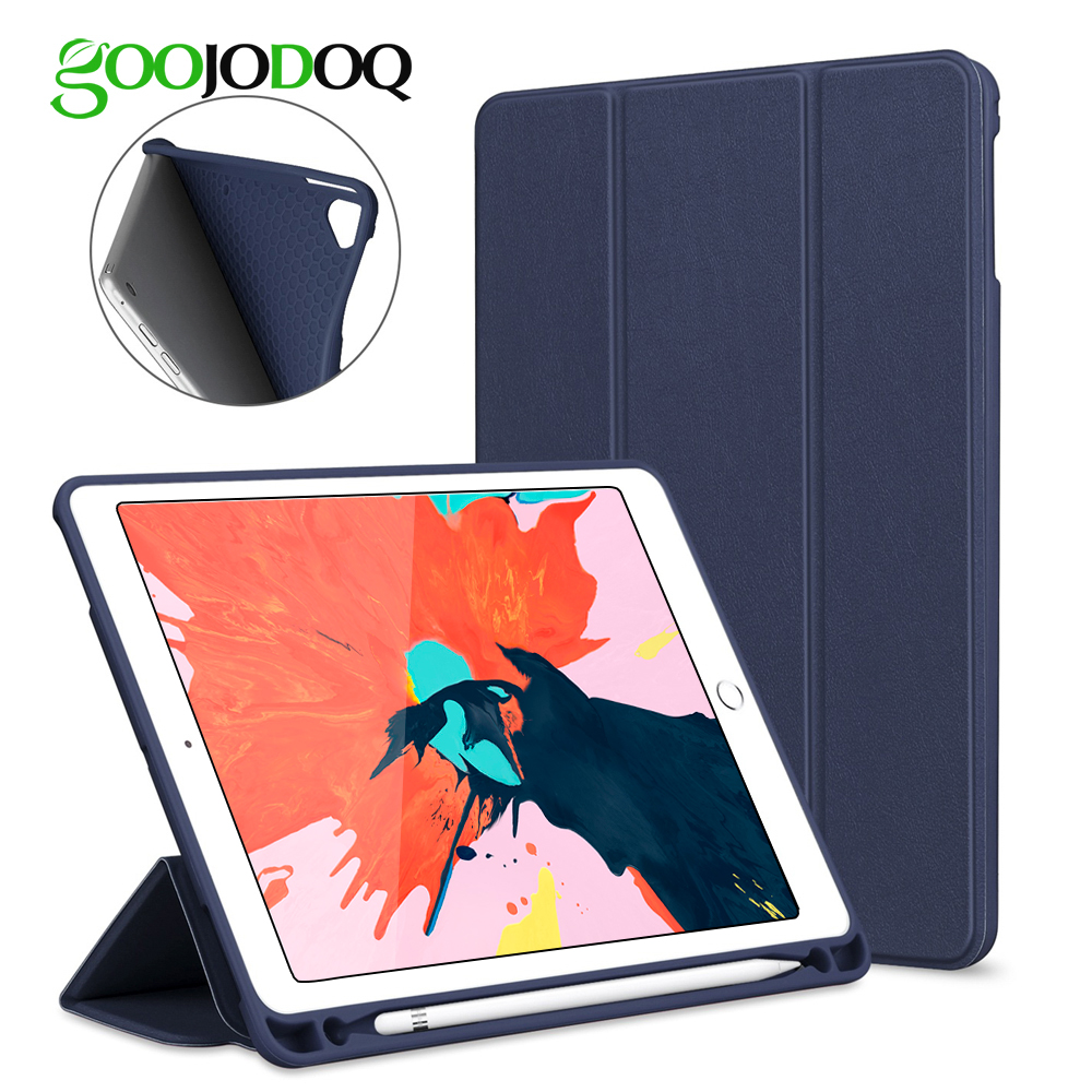 for ipad 2018 case pencil holder funda for ipad 6th. Black Bedroom Furniture Sets. Home Design Ideas