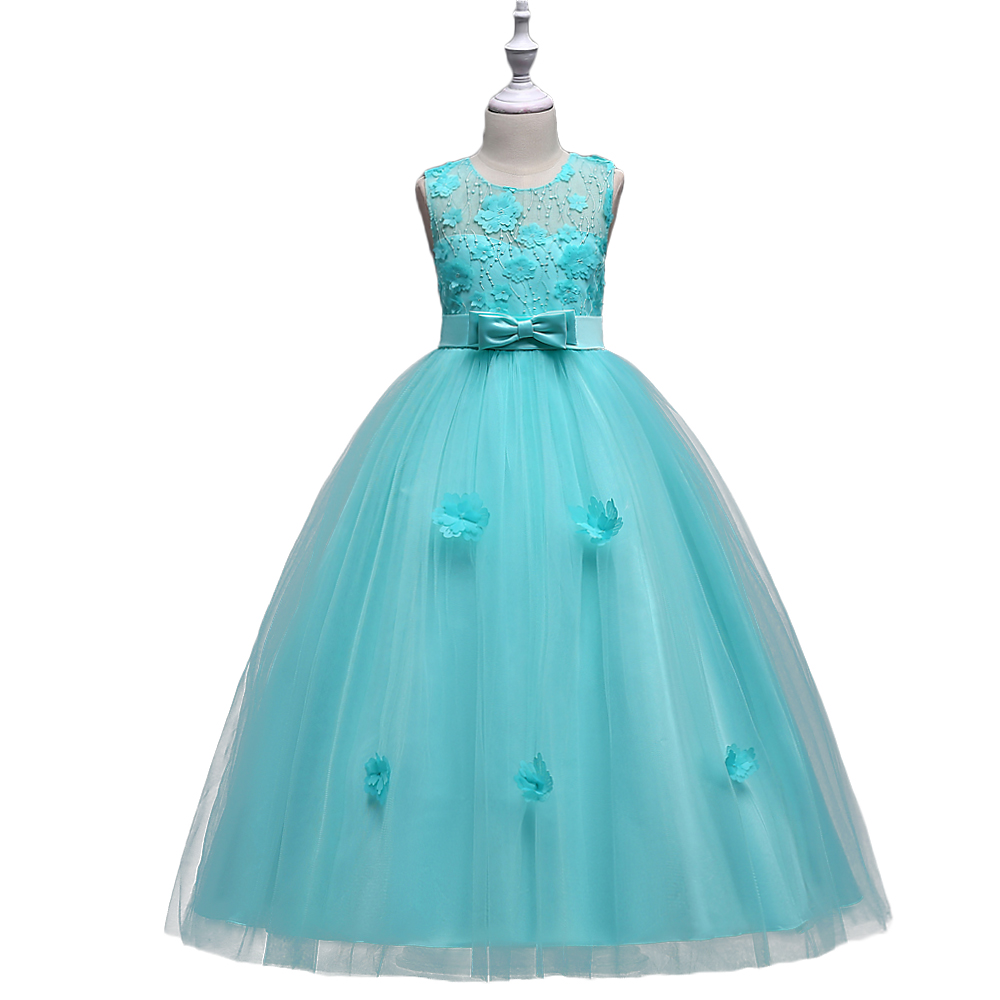 BAOHULU Grand Banquet Costume for Girls Evening Wedding Party Long Full Dress Teenagers Prom Gowns kids Frocks for 3-16 Years