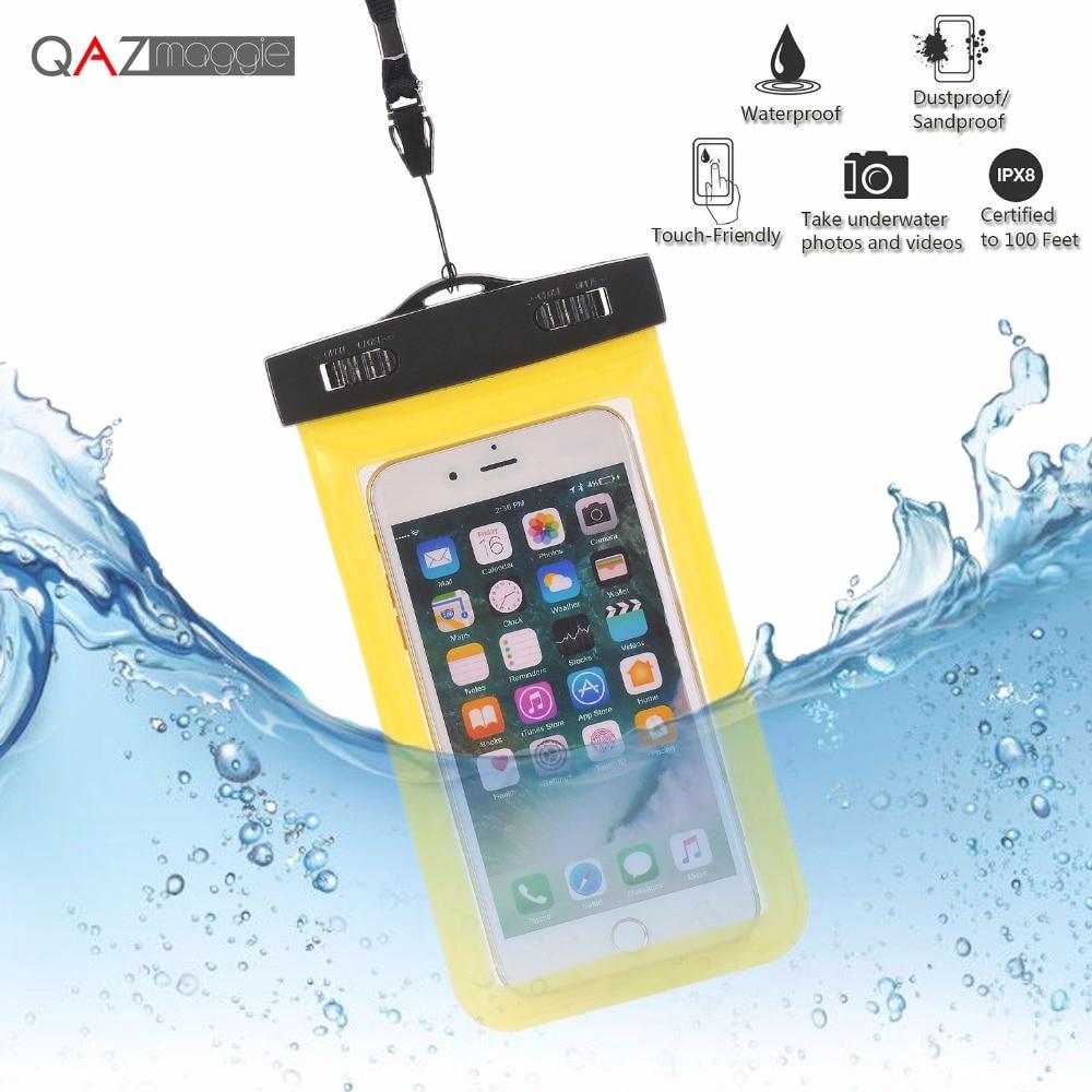 Universal Waterproof Bags Underwater Phone Case For iPhone 6 6s Plus 5S SE 7 7Plus/Samsung Galaxy S6 S7 Edge Plus S8