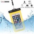 Universal bolsas impermeables bajo el agua teléfono case para iphone 6 6 s plus 5S sí 7 7 plus/samsung galaxy s6 s7 edge plus