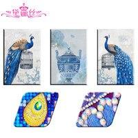 Dainasi Animal Diamonds Draw Peacocks Special Shape Diamond Painting Mosaic Embroidery 5D Diy Chinese Cross Stitch